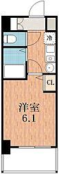 エステムコート四天王寺夕陽丘.[8階]の間取り