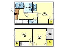 OsハイツII[2階]の間取り