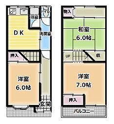 [一戸建] 大阪府門真市脇田町 の賃貸【/】の間取り