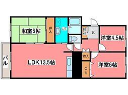 クリーンハウス519[1階]の間取り