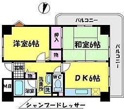 コートレックス[2階]の間取り