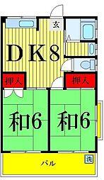 東京都足立区青井1丁目の賃貸マンションの間取り