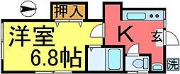 長沢荘[201号室]の間取り