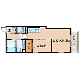 JR東海道本線 静岡駅 バス13分 南安倍町下車 徒歩3分の賃貸アパート 3階1LDKの間取り