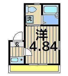 東京都葛飾区白鳥1の賃貸アパートの間取り