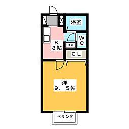 グリーンステージ信成 A棟[2階]の間取り