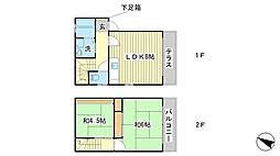 [テラスハウス] 兵庫県赤穂市加里屋 の賃貸【兵庫県 / 赤穂市】の間取り