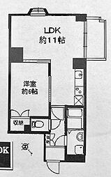 リーヴェルステージ横浜スクエア[503号室]の間取り