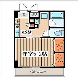 神奈川県横須賀市汐入町4丁目の賃貸マンションの間取り