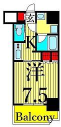ルフォンプログレ南大塚 2階1Kの間取り