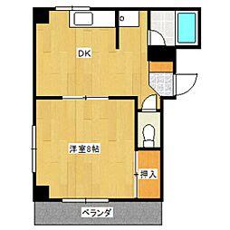 メゾンK&K[1階]の間取り