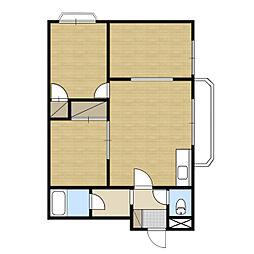 札幌市電2系統 西線16条駅 徒歩1分の賃貸マンション 3階3LDKの間取り