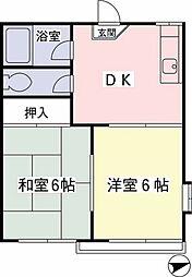 中村アパート[101号室]の間取り