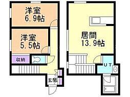 [テラスハウス] 北海道札幌市東区北三十二条東6丁目 の賃貸【/】の間取り