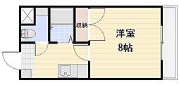 長野県長野市三輪9丁目の賃貸アパートの間取り