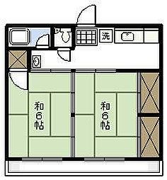 櫛間アパート[202号室]の間取り
