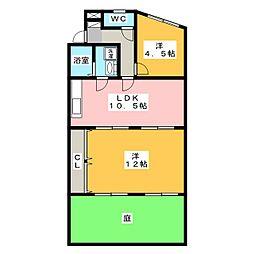 鉄村マンション S棟[1階]の間取り