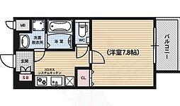 ベラジオ五条堀川3 4階1Kの間取り