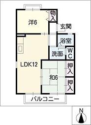 セジュール平安[1階]の間取り