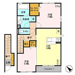 D-room wit B[2階]の間取り