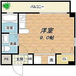 OM玉造II[4階]の間取り