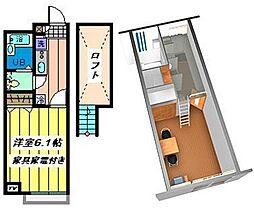 埼玉県さいたま市西区内野本郷の賃貸アパートの間取り