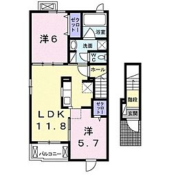 三島町アパート[2階]の間取り