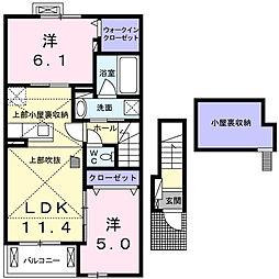 萱場アパート(ビオーラEP)[2階]の間取り