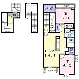 リーフI[3階]の間取り