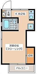 渡辺アパート[201号室]の間取り