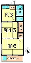 東明ハウス[2階]の間取り