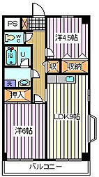 ピュアシティ[2階]の間取り
