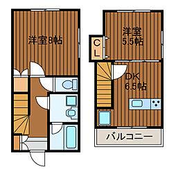 [テラスハウス] 神奈川県相模原市南区東林間5丁目 の賃貸【/】の間取り