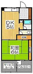第二北豊マンション[4階]の間取り