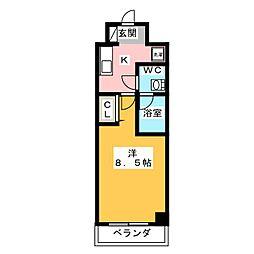GRAN PASEO 神楽坂 5階1Kの間取り