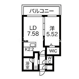 癒禅32 5階1LDKの間取り