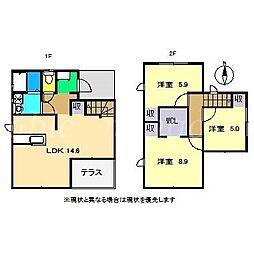 [一戸建] 高知県香美市土佐山田町植 の賃貸【/】の間取り
