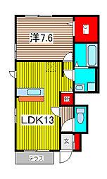 SAKURA Hills C[1階]の間取り