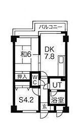 リリーハイム中丸[6階]の間取り