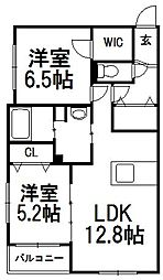 仮)二十四軒1−2マンションA棟[105号室]の間取り