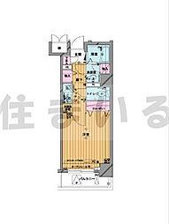 メゾンドヴィレ日本橋茅場町[3階]の間取り