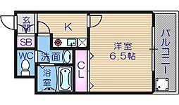 大阪府大阪市中央区上本町西2丁目の賃貸マンションの間取り