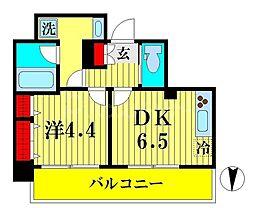 JR総武線 両国駅 徒歩9分の賃貸マンション 5階1DKの間取り