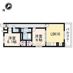 京阪本線 淀駅 バス12分 北川顔下車 徒歩6分の賃貸アパート 2階2LDKの間取り