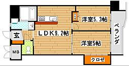 ギャラン井堀[9階]の間取り