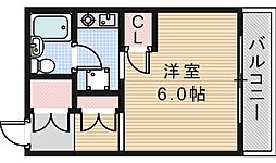 スリーエイトハイツ[4階]の間取り