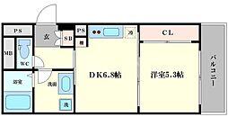 KAISEI江戸堀[10階]の間取り