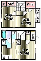 [タウンハウス] 大阪府和泉市府中町7丁目 の賃貸【/】の間取り