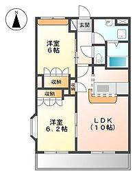 エクセルメゾン[1階]の間取り
