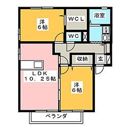 桜館[1階]の間取り
